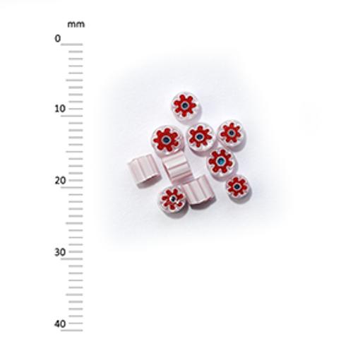Millefiori - 50g pack (M070), red, 3-4mm