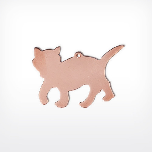 Copper Blank Cat Stamped Shape for Enamelling & Other Crafts