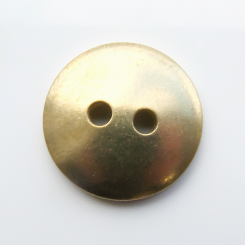 Brass Button, 15mm domed- Pack of 10 (251-BR)
