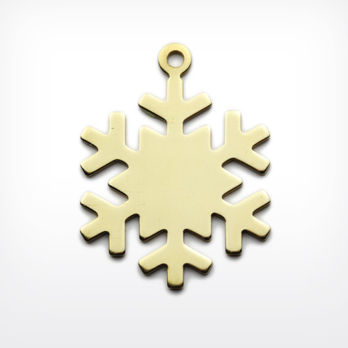 Brass Snowflake, with lug - Pack of 10 (442-BR)