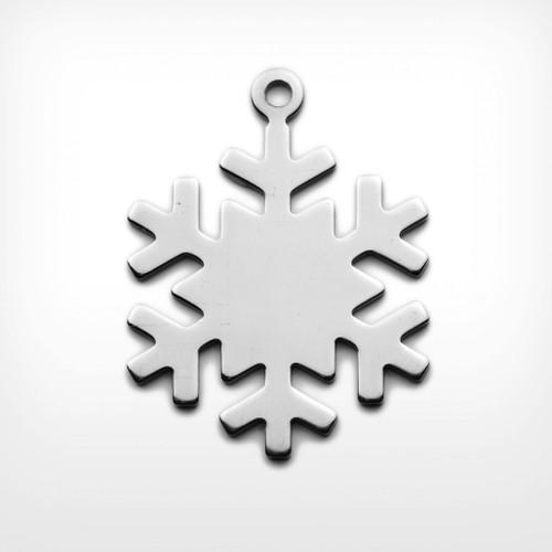 Aluminium Snowflake, with lug - Pack of 10 (442-AL)