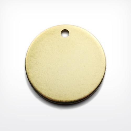 Brass Disc, 29mm, heavy gauge - Pack of 10 (637-BR)