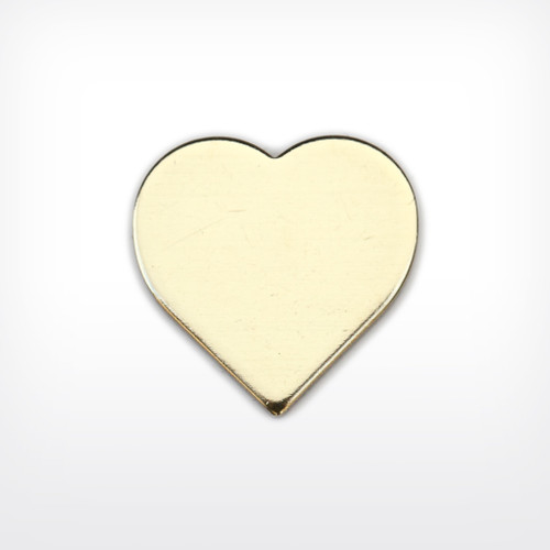 Brass Heart, 13mm- Pack of 10 (486-BR)