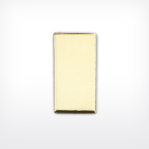 Brass Rectangle, 20x10mm - Pack of 10 (542-BR)