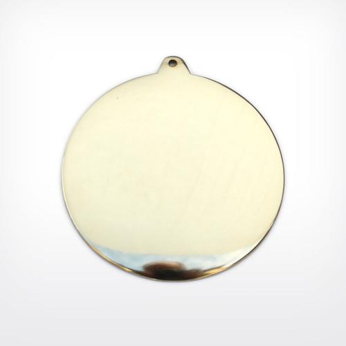 Brass Domed disc, lug - Pack of 10 (814-BR)