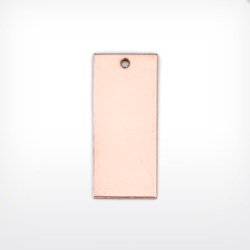 Copper Rectangle, 35x15mm, pierced - Pack of 10 (567-CU) - END OF LINE 50% OFF