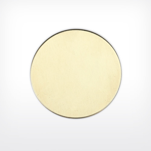 Brass Disc, 44.5mm (1 3/4 inch), 22 guage - Pack of 10 (657-BR) - END OF LINE 50% OFF