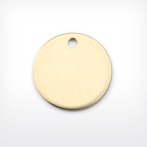 Brass Disc, 25.4mm (1 inch), heavy gauge - Pack of 10 (654-BR)
