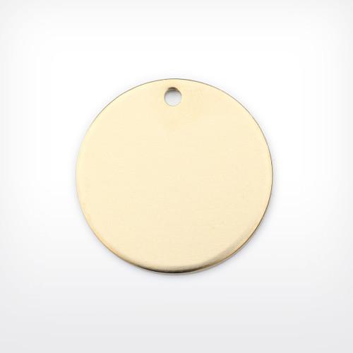 Brass Disc, 35mm, heavy gauge - Pack of 10 (673-BR)