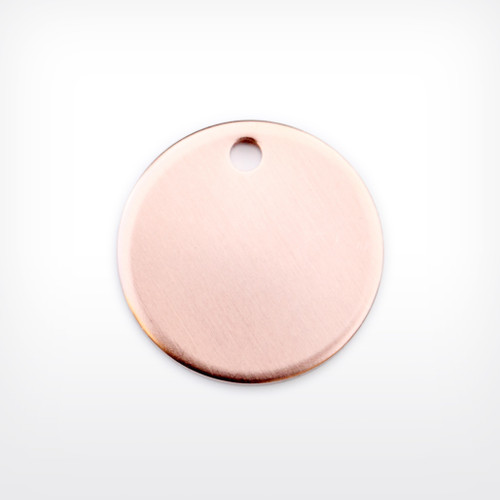 Copper Disc with 3mm piercing, 25.4mm (1 inch), heavy gauge - Pack of 10 (654-CU)