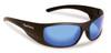 Flying Fisherman Cape Horn Matte Black / Smoke Blue Mirror Sunglasses 7738BS