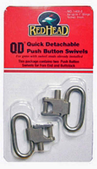 "Red Head QD 1"" SS/Nickle Push Button Gun Sling Swivels"