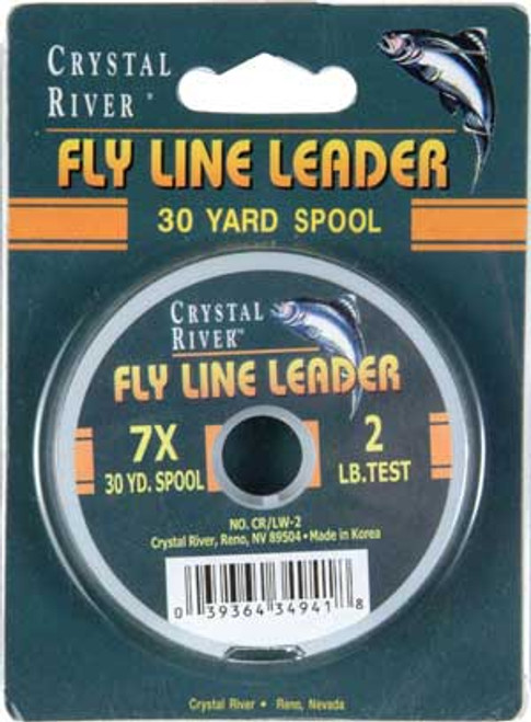 Crystal River 7X Fly Fishing Leader 30 YD Spool 2 lb