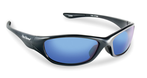 Flying Fisherman Cabo Black / Smoke-Blue Mirror Sunglasses 7735BS