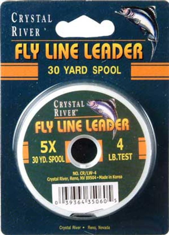 Crystal River 5X Fly Fishing Leader 30 YD Spool 4 lb