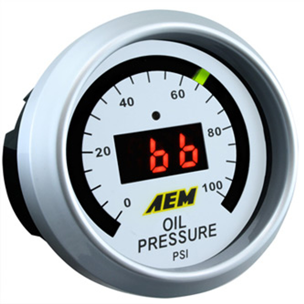 AEM Digital Oil Pressure Gauge 100psi
