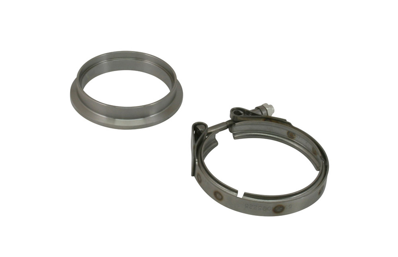Borg Warner S300 Marmon x 3.5 Tube Billet Stainless exhaust flange /& clamp