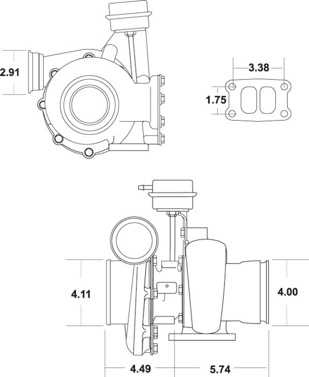 Borg Warner 57-65 S300GX-E 2nd Gen Cummins 13749880014