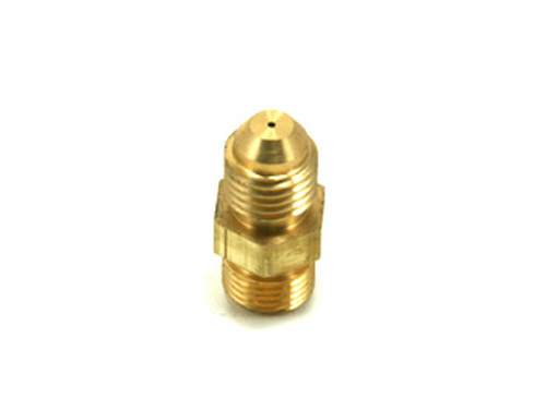 7/16-24 IF AGP/Garrett Twin Ball Bearing to -4 Oil Feed Fitting Restrictor