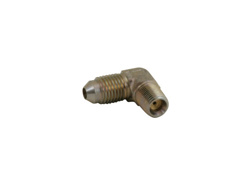 """1/8"""" NPT T3 Bearing Housing Oil Feed Fitting 90 Degree with Restrictor"""