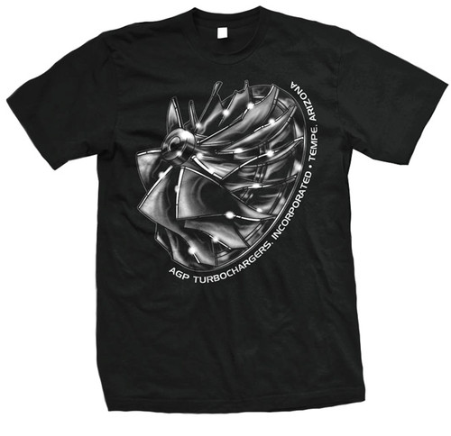 AGP Turbo Black Compressor Wheel T Shirt