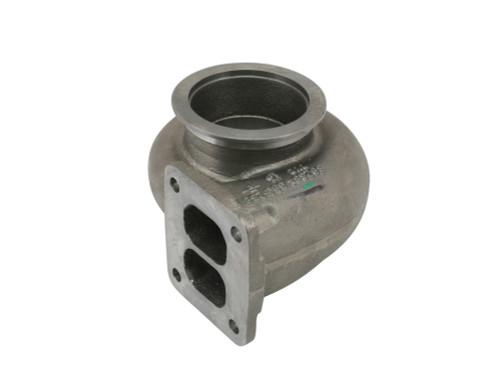 """T4 Divided Inlet 4"""" V Band Outlet Turbine Housing for S400 83/74 and 87/82"""