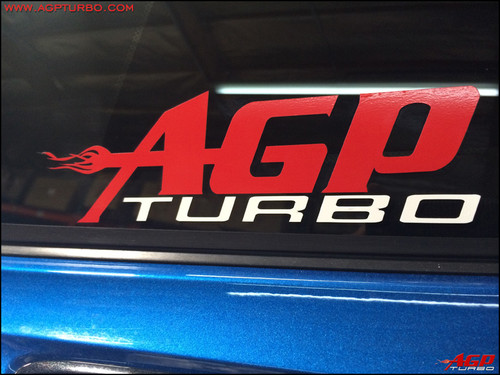 "AGP Turbo Sticker 4"" x 14"""
