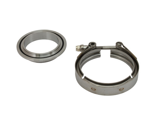 """4.21"""" S400 GT42 GT45 GT47 Stainless Compressor V Band Outlet Kit to 3"""" or 3.5"""" Tube"""