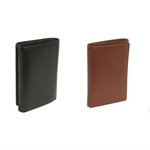 8bea2b42ff3d Budd Leather Mens Cowhide Leather Tri-Fold Wallet - Black or Brown