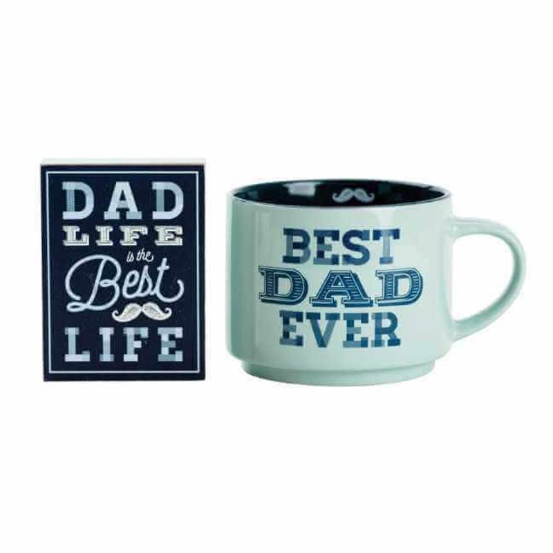 Best Dad Ever 18-oz Mug and Sign Gift Set