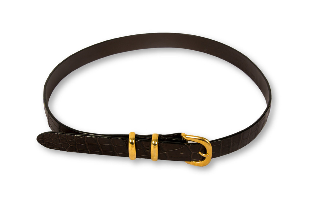 Belly Skin Belt - Brown