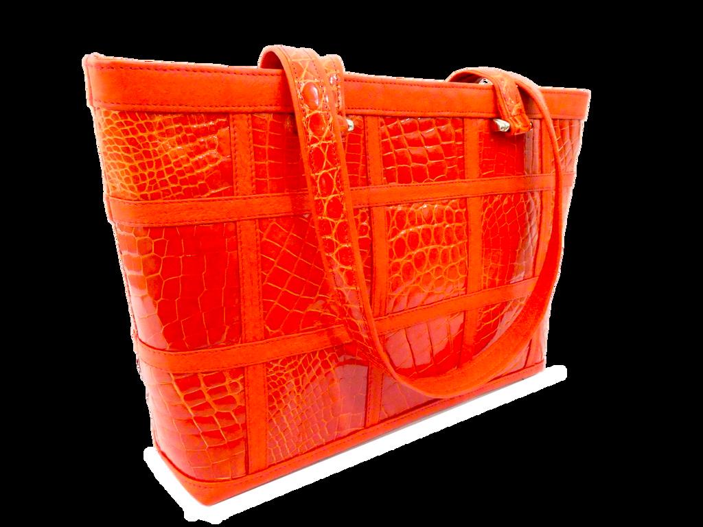 The Candice Patchwork Tote - Orange
