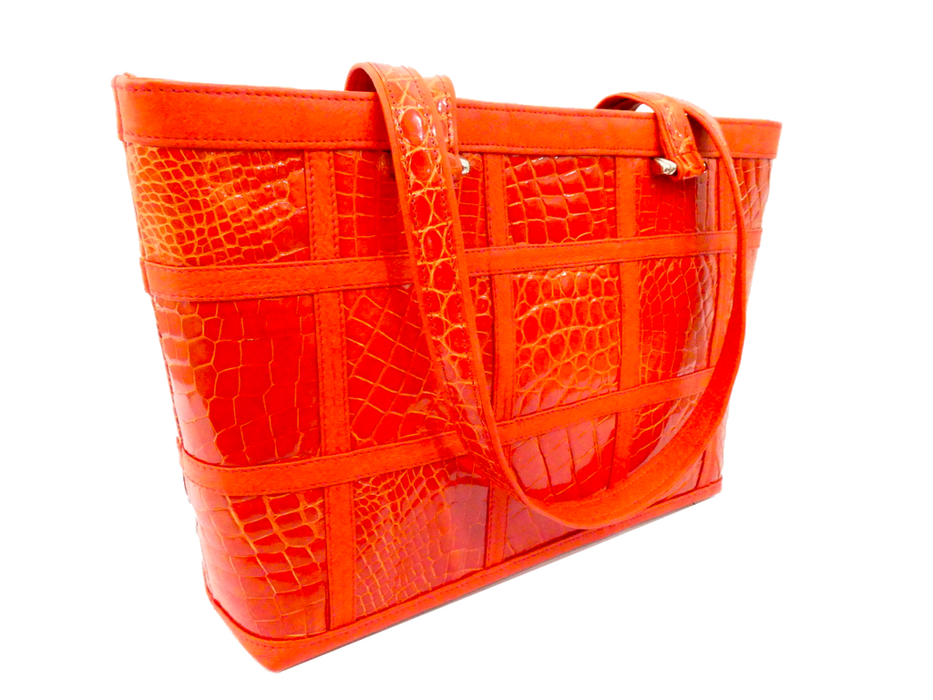 The Candice Patchwork Tote - Orange
