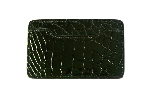Notched Card Holder - Black