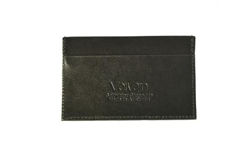 Standard Leather Blend Card Holder - Black
