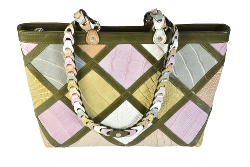 The Candice Patchwork Tote - Pastel