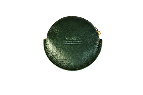 Leather Blend Coin Purse - Deep Marine