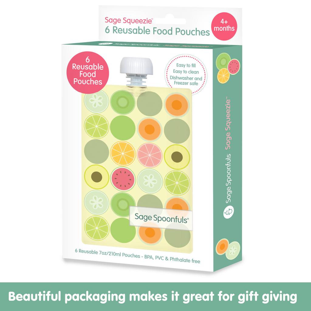 Sage Squeezie Fruit Dot 6 Pack