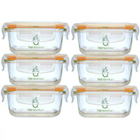 Tough Glass Tubs - 6 Pack