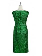 Short Handmade 8mm Cupped Sequin Dress in Metallic Emerald Green back view