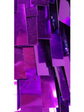 Short Handmade Rectangular Paillette Hanging Metallic Purple Sequin Dress with Chinese Collar and Keyhole Cut close up