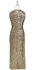 In-Stock Long Gold Baroque Sequin Fabric Gown (L2020-0032) SIZE: US 22 / UK 24 / EUR 54 (Measurements are shown as inches) BUST: 49 WAIST: 42 HIPS: 52 G: 22 (mid top of shoulder to waist) H Length: 63