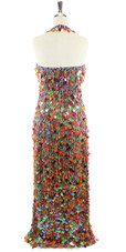 Long Handmade Copper & Transparent Hanging Sequins Gown (2020-006)