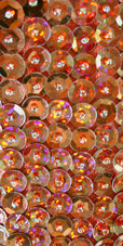 Long Handmade 8mm Cupped Sequin Dress in Hologram Brown close up view