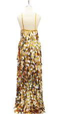 Long Handmade Gold And Silver Rectangular Paillette Sequin Dress