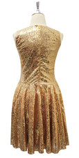 Short Gold Sequin Fabric Dress Back View