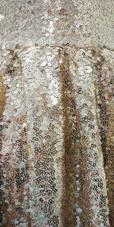 Short Gold Sequin Fabric Dress Close View