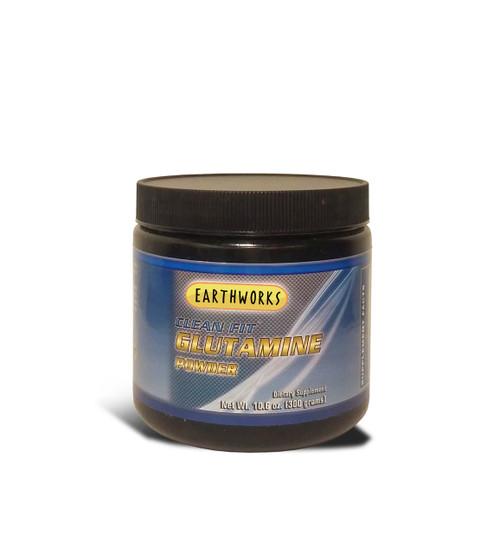 Dave Hawkins' EarthWorks EW Clean Fit L-Glutamine Powder 300 GR PWD