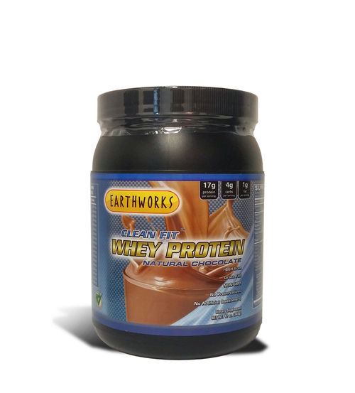 Dave Hawkins' EarthWorks EW Clean Fit Whey Protein - Chocolate 12 OZ PWD