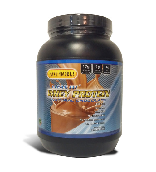 Dave Hawkins' EarthWorks EW Clean Fit Whey Protein - Chocolate 32 OZ PWD